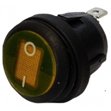12V ROUND 'PUSH-FIT'  ILLUMINATED ROCKER SWITCH...