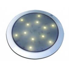 EXTERIOR WHITE 12V ROUND DOME LAMP, WHITE LED'S