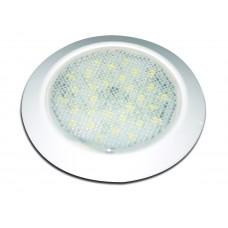 SMALL WHITE INTERIOR EXTERIOR 12V DOME LAMP LED, 69MM