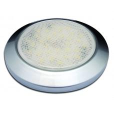 SMALL SATIN SILVER INTERIOR/ EXTERIOR, 12v ROUND DOME LIGHT, LED