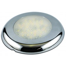 INTERIOR CHROME 12V ROUND DOME LAMP with Night Light + TOUCH SWITCH