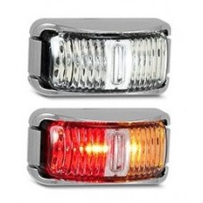 LED 42 SERIES AMBER/ RED MARKER LAMP (CHROME)