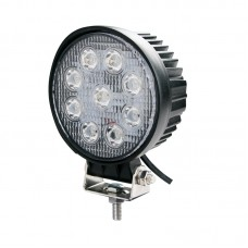 "27 WATT LED WORK LAMP ROUND ""HARRIER"" (12-12vdc) {57-}"