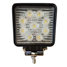 "27 WATT LED WORK LAMP SQUARE ""KYTE"" (12-12vdc)"