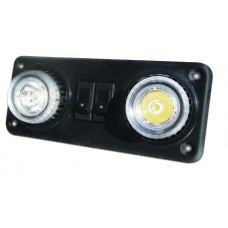 LED INTERIOR EYEBALL CONSOLE LAMP, 12- 24V