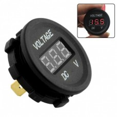 DIGITAL VOLTMETER ROUND FLUSH MOUNT {6~29.9v} {87}