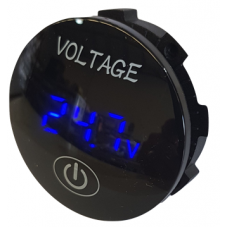 DIGITAL VOLTMETER ROUND FLUSH MOUNT WITH ON/OFF SWITCH {6~29.9v}..