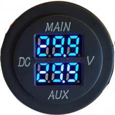 DIGITAL DUAL VOLTMETER ROUND FLUSH MOUNT {6~29.9v}..