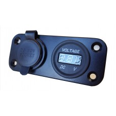 CIG / VOLTMETER DC POWER SOCKET- BULKHEAD MOUNT