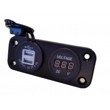 USB / VOLTMETER POWER SOCKET BULKHEAD MOUNT