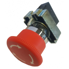 EMERGENCY STOP SWITCH, PANEL MOUNT,  WITH ROTATING RELEASE...