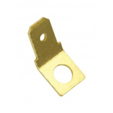 UN-INSULATED QUICK CONNECT TAB- 45 DEG 4MM HOLE