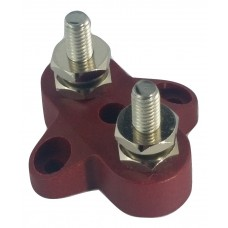 6MM INSULATED JUNCTION DOUBLE STUD/ POST/ BUSS- RED