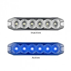 6 LED FLASHING OPTIC BLUE LIGHT HEAD