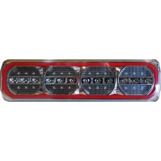 LED 385 SERIES  QUAD STOP- TAIL/ SEQUENTIAL INDICATOR  COMBO HALO LAMP, MULTIVOLT