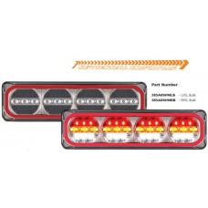 LED 385 SERIES LHS QUAD STOP- TAIL/ SEQUENTIAL INDICATOR  / REV. COMBO HALO LAMP, MULTIVOLT