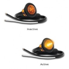 181 SERIES LED MARKER LAMP AMBER with GROMMET MOUNTING...