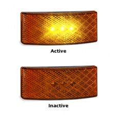 EU38 BLACK SERIES LED REFECTOR LAMP AMBER 3M TAPE...