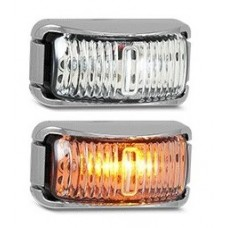 LED 42 SERIES AMBER MARKER LAMP (CHROME)