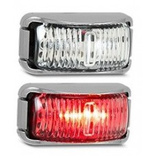 LED 42 SERIES RED MARKER LAMP (CHROME)