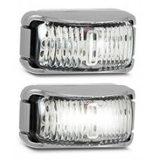 LED 42 SERIES WHITE MARKER LAMP (CHROME)