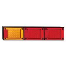 LED JUMBO SERIES 12~24V TRIPLE STOP- TAIL/ INDICATOR  COMBO LAMP, MULTIVOLT