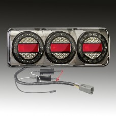 LED MAXI 3 SERIES  {Pre-Wired} 12~24V TRIPLE STOP- TAIL/ INDICATOR / REVERSE COMBO LAMP...