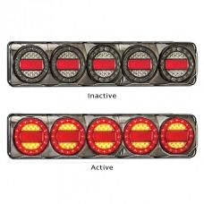 LED MAXI 5 SERIES 12~24V TRIPLE STOP- TAIL/ INDICATOR COMBO LAMP, MULTIVOLT