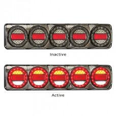 LED MAXI 5 SERIES 12~24V TRIPLE STOP- TAIL/ INDICATOR / REVERSE COMBO LAMP, MULTIVOLT