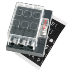 6-WAY STANDARD ATS BLADE FUSE BOX WITH COVER