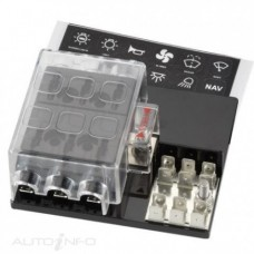 6-WAY STANDARD ATS BLADE FUSE BOX WITH COVER & EARTH