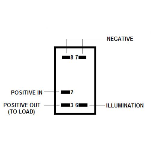 16-SW403BM-BO- Carling Style LED Rocker Switch Body Only