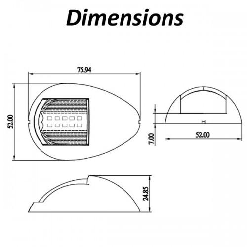 led navigation lamp port 12